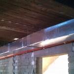 Instalacja ogrzewania nadmuchowego i klimatyzacji w domu weselnym 03